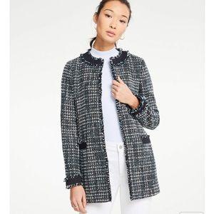Ann Taylor Framed Tweed Topper Jacket NWT